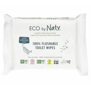 Naty ECO vlhčené splachovatelné ubrousky s funkcí toaletního papíru bez vůně 42 ks