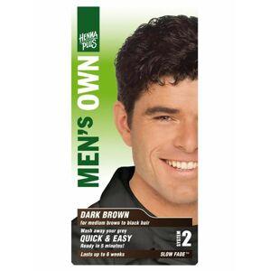 HennaPlus Barva pro muže Tmavě hnědá 80 ml