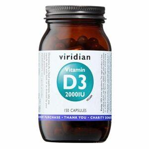 Viridian Vitamin D3 2000iu 150 kapslí